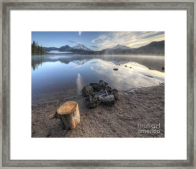 A Place To Sit Framed Print by Twenty Two North Photography