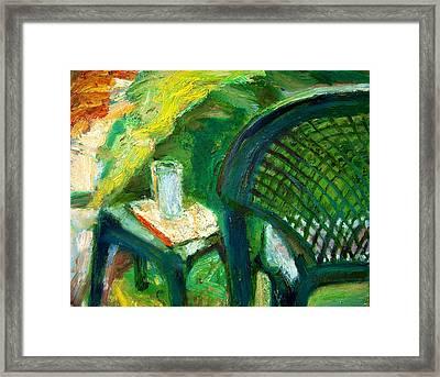 A Place To Write Framed Print by Bob Dornberg