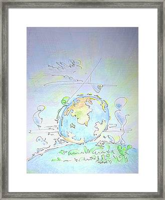 A Planet Remembered Framed Print