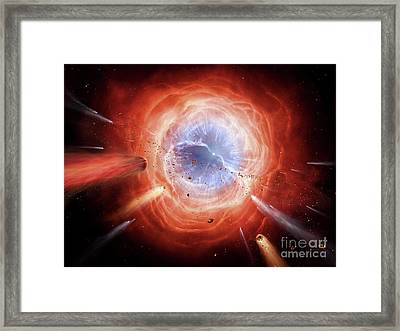 A Planetary Nebula Is Forming Framed Print by Brian Christensen