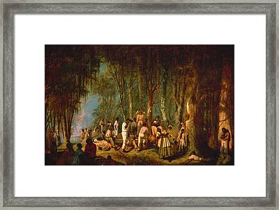 A Plantation Burial Framed Print by Mountain Dreams