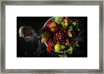 A Plate Of Fruits Framed Print