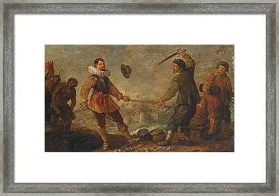 A Political Allegory Framed Print