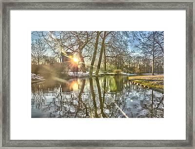A Pond In Rotterdam Framed Print