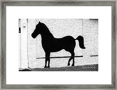A Pony Made Of Stone Framed Print