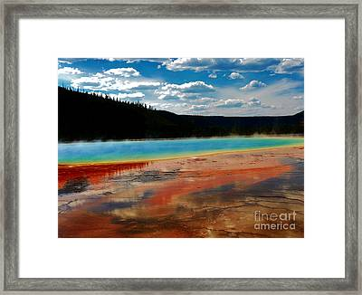 Framed Print featuring the photograph A Pool Of Color by Robert Pearson