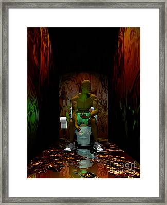 A Portrait Of Addiction Framed Print by Walter Neal