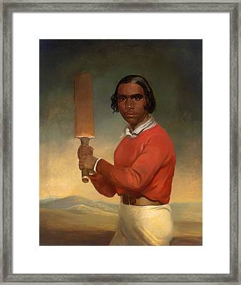 A Portrait Of Nannultera - A Young Poonindie Cricketer  Framed Print