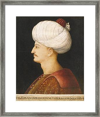 A Portrait Of Suleyman The Magnificent Framed Print