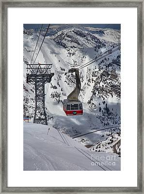 A Portrait Of The Snowbird Tram Framed Print by Adam Jewell