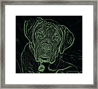 A Positive Negative Framed Print by DigiArt Diaries by Vicky B Fuller