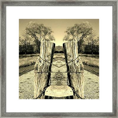 A Post Card View Framed Print