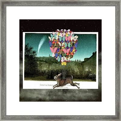 A Postcard To Hare Framed Print by Suzanne Carter