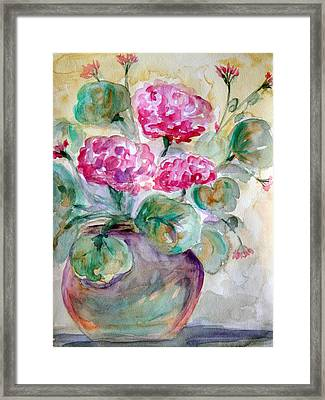 A Pot A Spring Framed Print