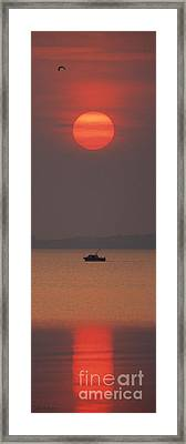 A Power Boat On Its Way To The Fishing Grounds Framed Print by John Harmon