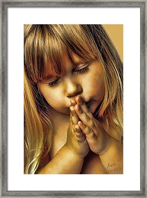 A Prayer For My Dad Framed Print