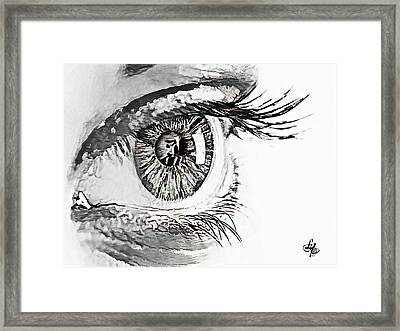 A Prayerful Eye Framed Print