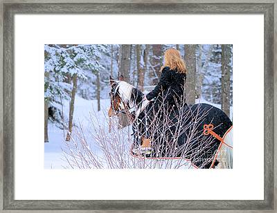 A Princess And Her Pony Framed Print by Elizabeth Dow