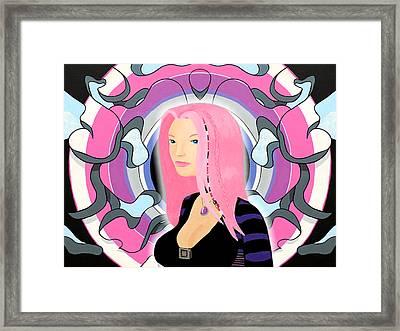 A Priori Cyberpunk Girl Derivative Framed Print by Thomas Albany