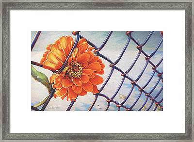 A Prison Of Her Own Making Framed Print by Amy S Turner