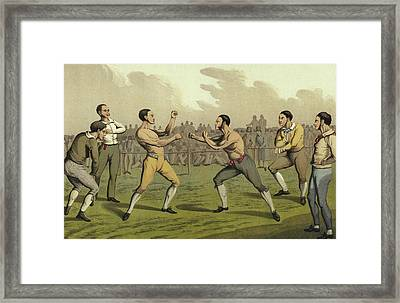 A Prize Fight Framed Print by Henry Thomas Alken