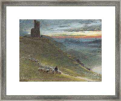 A Prospect Of Edinburgh From The East Framed Print by MotionAge Designs