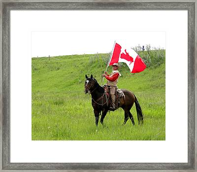A Proud Cowboy Framed Print by Al Bourassa