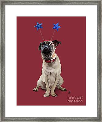 A Pug's Life Colour Framed Print