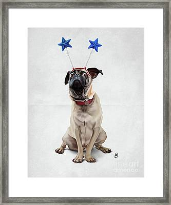 A Pug's Life Wordless Framed Print