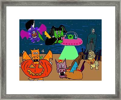 A Puppydragon Halloween Framed Print