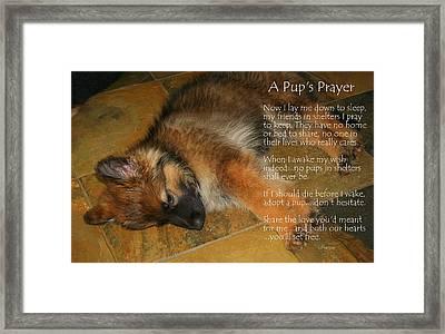 A Pup's Prayer Framed Print