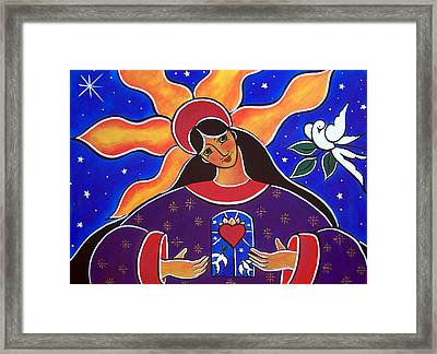 Framed Print featuring the painting A Pure Heart by Jan Oliver-Schultz