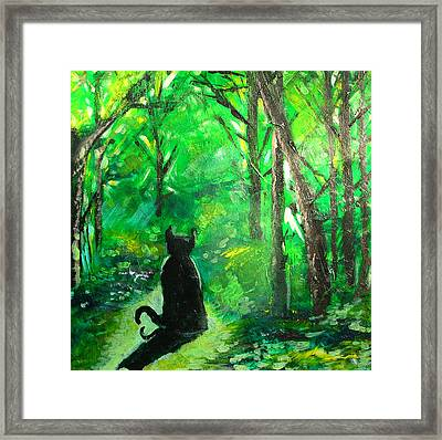 A Purrfect Day Framed Print