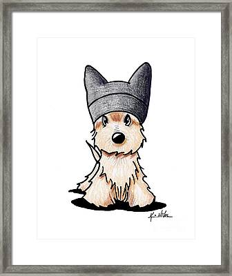 A Purrfect Scottie Framed Print by Kim Niles