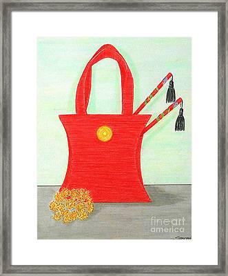 A Purse For Mei Ling -- The Original -- Still Life Framed Print