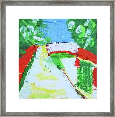 A Putah Creek Bridge Framed Print