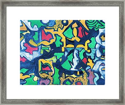 A Puzzle In A Conundrum In An Enigma Framed Print by Anne-Elizabeth Whiteway