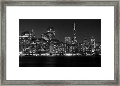 Framed Print featuring the photograph A Pyramid In The City by Peter Thoeny
