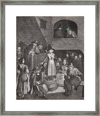 A Quaker S Meeting In The Seventeenth Framed Print