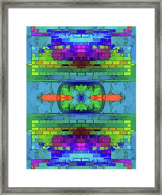 Framed Print featuring the digital art A Question Of Balance by Wendy J St Christopher