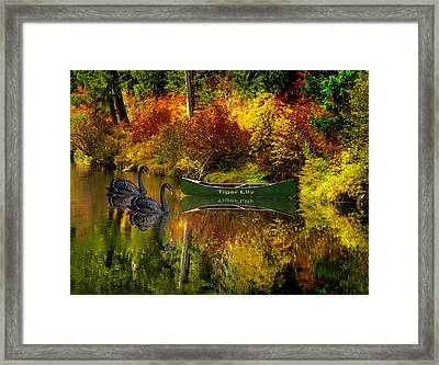 Framed Print featuring the photograph A Quiet Autumn Evening by Diane Schuster