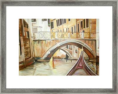 A Quiet Canal Framed Print
