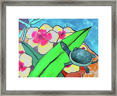 A Quiet Conversation Framed Print
