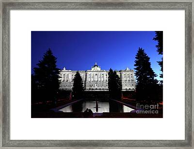 A Quiet Evening In Sabatini Gardens Madrid Framed Print