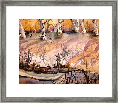 A Quiet Light Framed Print by Mindy Newman