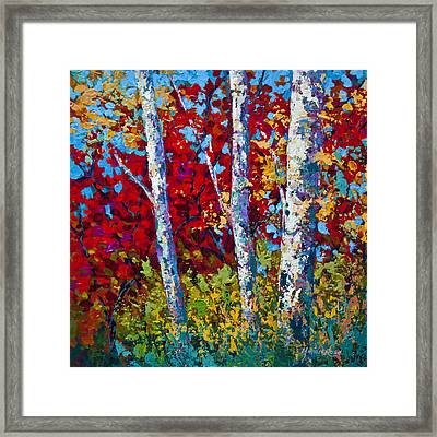 A Quiet Pause Framed Print by Marion Rose