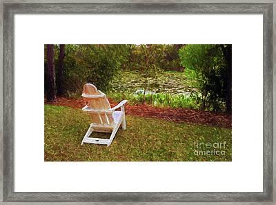 A Quiet Spot To Dream Framed Print
