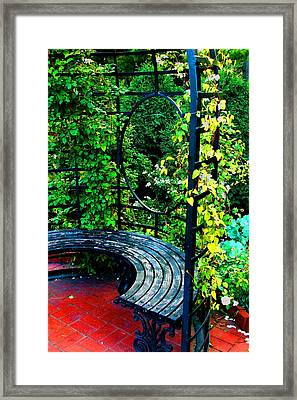 A Quiet Spot To Rest Framed Print