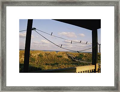 A Quiet Stretch Of Dune And Ocean Framed Print by Stephen St. John