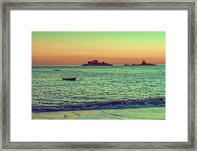A Quiet Summer Evening On The Montenegrin Coast Of The Adriatic Sea Framed Print